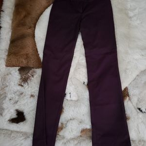Ann Taylor Loft Burgundy Marisa Boot Cut Pants